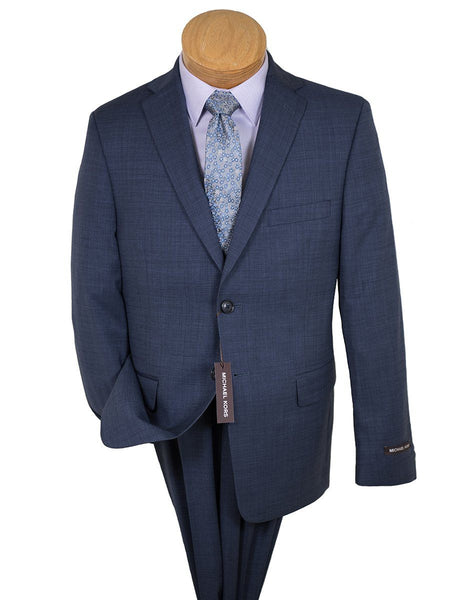 Michael Kors 26268 100% Worsted Wool Boy's Suit - Blue Weave