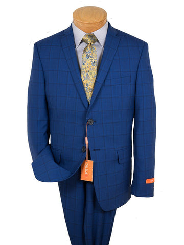 Image of Tallia 26396 Boy's Suit - Skinny Fit - Windowpane - Blue Boys Suit Tallia
