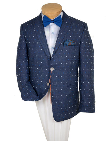 Boy's Sport Coat 26406 Navy/Blue White Boys Sport Coat Tallia