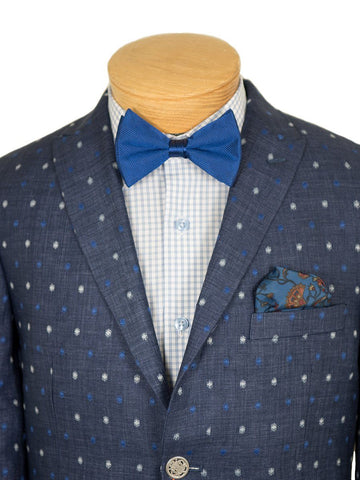 Image of Boy's Sport Coat 26406 Navy/Blue White Boys Sport Coat Tallia