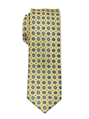 Heritage House 26437 100% Silk Boy's Tie - Neat - Gold/Navy Boys Tie Heritage House