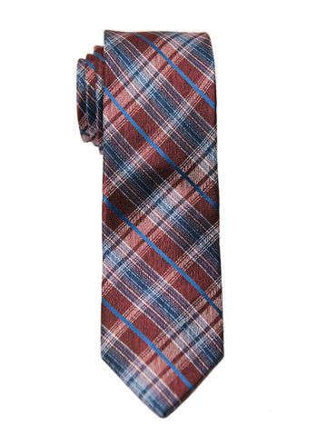 Heritage House 26464 100% Silk Boy's Tie - Plaid - Red/Blue Boys Tie Heritage House