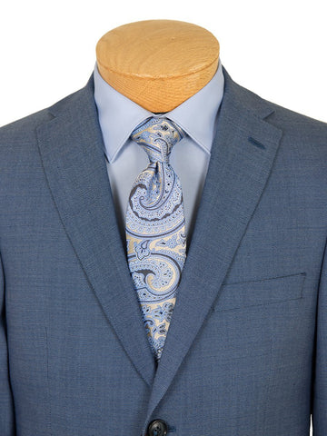 Michael Kors 26489 100% Worsted Wool Boy's Suit - Neat - Blue