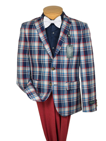 Lauren Ralph Lauren Boy's Sport Coat 26514 Red/Vanilla/Blue Boys Sport Coat Lauren