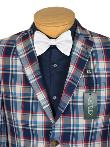 Image of Lauren Ralph Lauren Boy's Sport Coat 26514 Red/Vanilla/Blue Boys Sport Coat Lauren