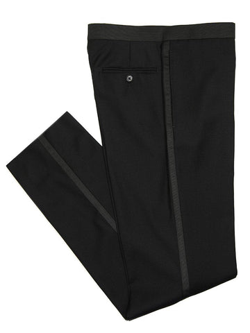 Michael Kors 26593 Black Boy's Tuxedo - Solid Gabardine - 100% Tropical Worsted Wool Boys Tuxedo Michael Kors