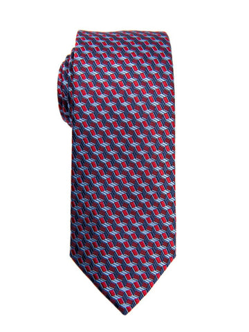 Heritage House 26613 100% Silk Boy's Tie - Neat - Red/Blue Boys Tie Heritage House