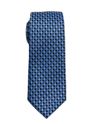 Heritage House 26615 100% Silk Boy's Tie - Neat - Blue/Black Boys Tie Heritage House