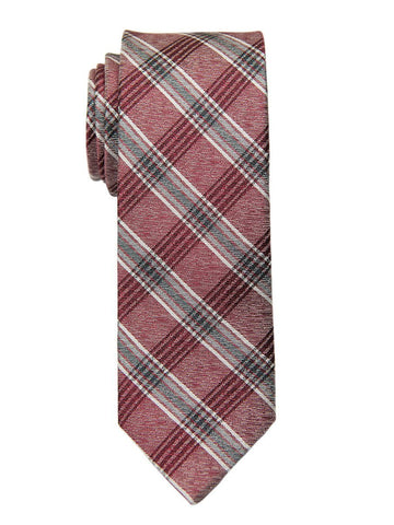 Heritage House 26818 100% Silk Boy's Tie -Plaid - Red/Black Boys Tie Heritage House
