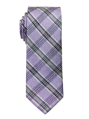 Heritage House 26820 100% Silk Boy's Tie -Plaid - Purple/Black Boys Tie Heritage House
