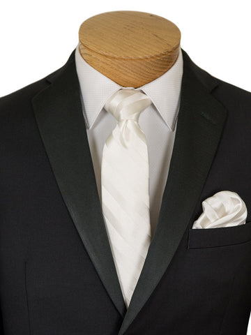 Image of Michael Kors 26593 Black Boy's Tuxedo - Solid Gabardine - 100% Tropical Worsted Wool Boys Tuxedo Michael Kors