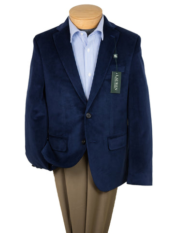 Image of Lauren Ralph Lauren 26922 Boy's Sport Coat-Blue Velvet Boys Sport Coat Lauren
