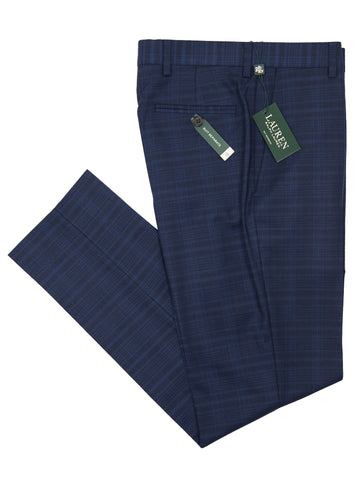 Lauren Ralph Lauren 26937P Boy's Suit Separate Pants - Navy Plaid Boys Suit Separate Pant Lauren