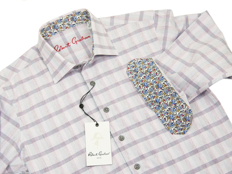 Robert Graham Sport Shirt 26956 Lavender Plaid Boys L/S Woven Robert Graham