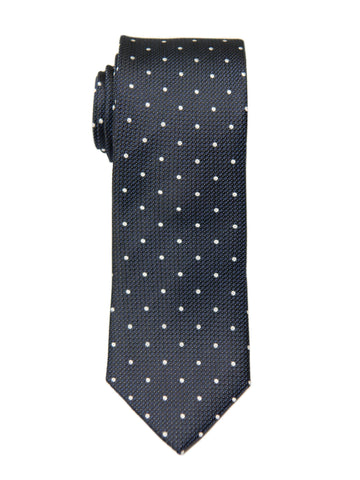 Heritage House 26975 100% Silk Boy's Tie - Neat - Navy/White Boys Tie Heritage House