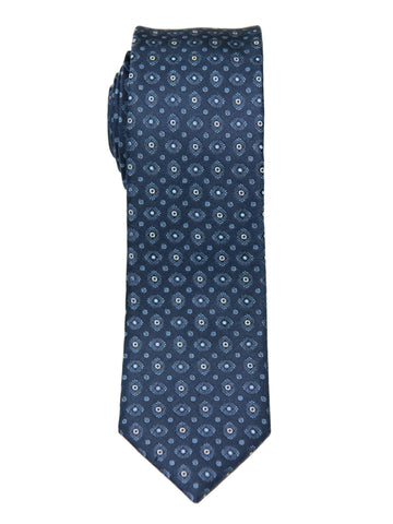 Heritage House 26978 100% Silk Boy's Tie - Neat - Blue Boys Tie Heritage House