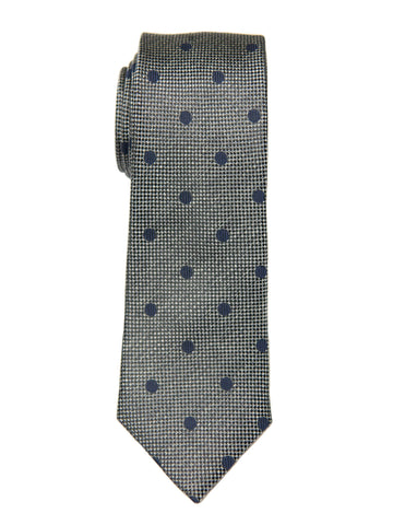 Heritage House 26986 100% Silk Boy's Tie - Neat - Grey/Blue Boys Tie Heritage House