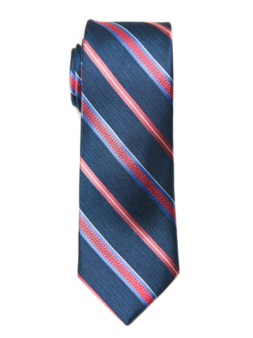 Heritage House 27004 100% Silk Boy's Tie - Stripe - Blue/Red Boys Tie Heritage House