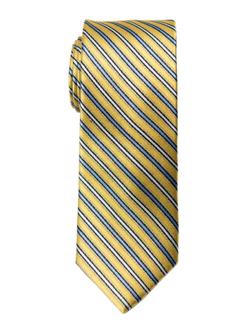 Heritage House 27006 100% Silk Boy's Tie - Stripe - Yellow/Blue Boys Tie Heritage House
