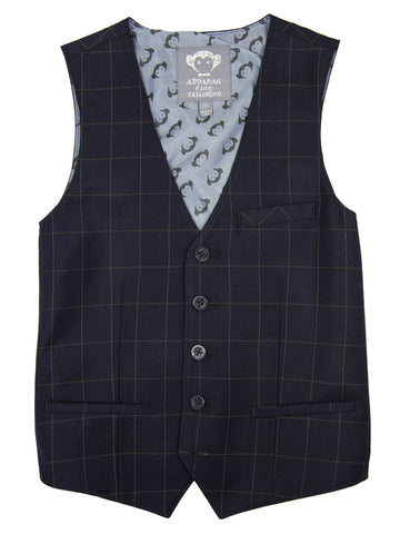 Appaman 27020V Navy Windowpane Vest Boys Vest Appaman