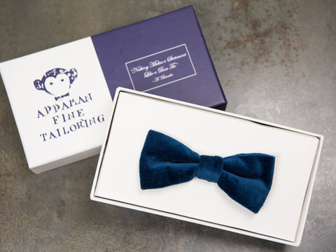 Appaman 27052 Boy's Bow Tie Blue Velvet Boys Bow Tie Appaman