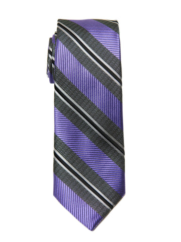 Heritage House 27088 Boy's Tie - Stripe - Purple/Grey Boys Tie Heritage House