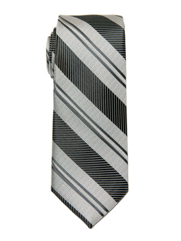 Heritage House 27092 Boy's Tie - Stripe - Black/Silver Boys Tie Heritage House