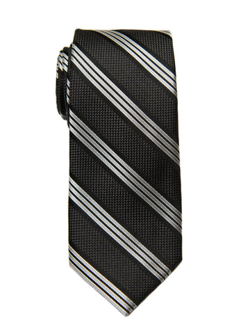 Heritage House 27098 Boy's Tie - Stripe - Black Boys Tie Heritage House