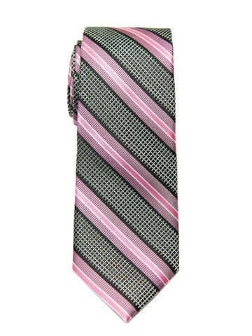 Heritage House 27106 Boy's Tie - Stripe - Black/Pink Boys Tie Heritage House