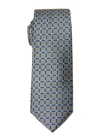 Boy's Tie 27136 Charcoal/Blue Neat Boys Tie Heritage House