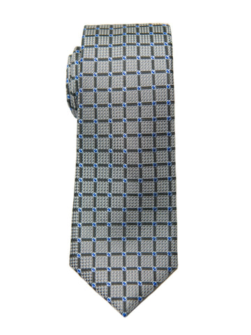 Boy's Tie 27138 Grey/Blue Neat Boys Tie Heritage House