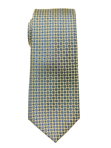 Boy's Tie 27144 Yellow/Blue Neat Boys Tie Heritage House