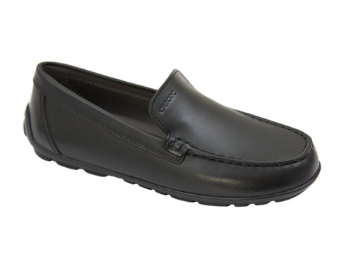 Geox 27174 Boy's Shoe- Driving Loafer- Plain-Black Boys Shoes Geox