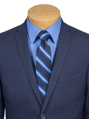 Image of Andrew Marc 27210 Boy's Skinny Fit Suit - Blue-Tic Weave Boys Suit Andrew Marc