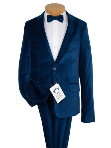 Appaman 27013 Boy's Suit -Skinny Fit- Blue- Velvet Boys Suit Appaman