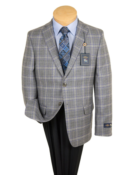 HSM 27254 Sport Coat - Plaid - Light Grey