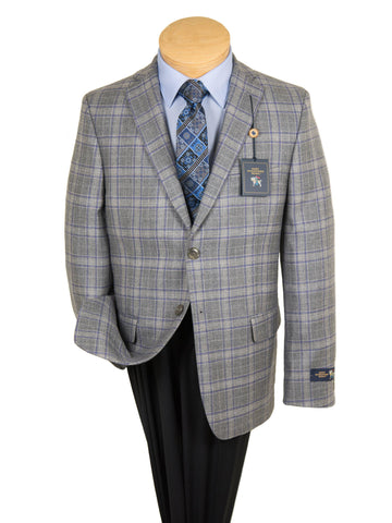 HSM 27254 Boy's Sport Coat - Plaid - Light Grey Boys Sport Coat HSM