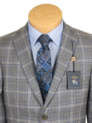 Image of HSM 27254 Boy's Sport Coat - Plaid - Light Grey Boys Sport Coat HSM