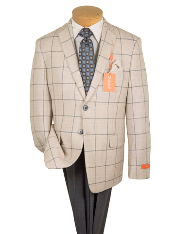 Tallia Boy's Sport Coat 27308 Oatmeal/Grey Plaid Boys Sport Coat Tallia