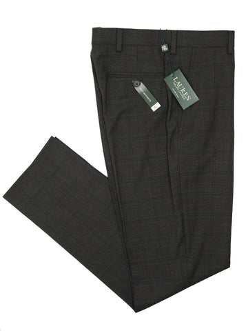 Lauren Ralph Lauren 27321P Boy's Suit Separate Pant - Plaid - Charcoal/Blue Boys Suit Separate Pant Lauren