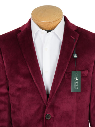 Image of Lauren Ralph Lauren 27384 Boy's Sport Coat-Dark Red Velvet Boys Sport Coat Lauren