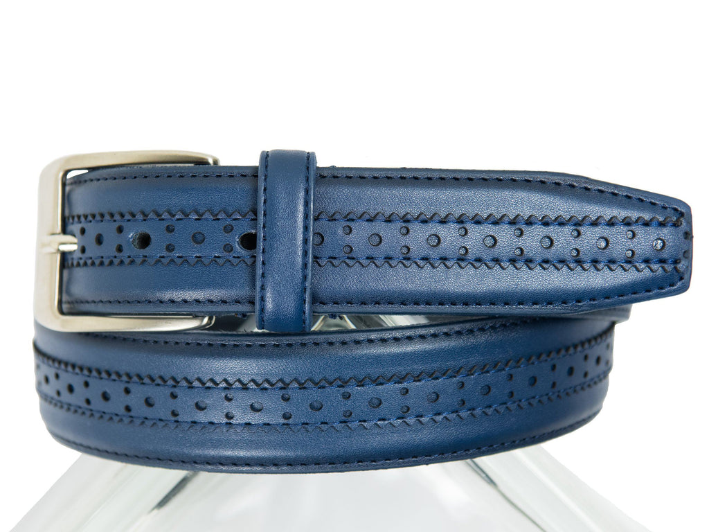 Florsheim Boy's Belt-27482-Navy Boys Belt Florsheim