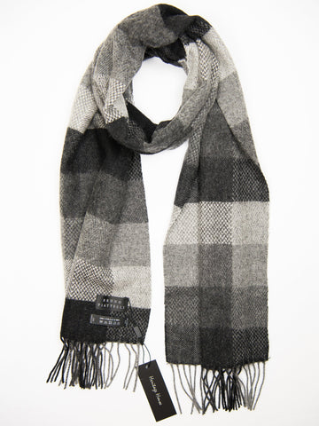 Young Men's Scarf 27502 Black/Grey Young Mens Scarf Bruno Piattelli