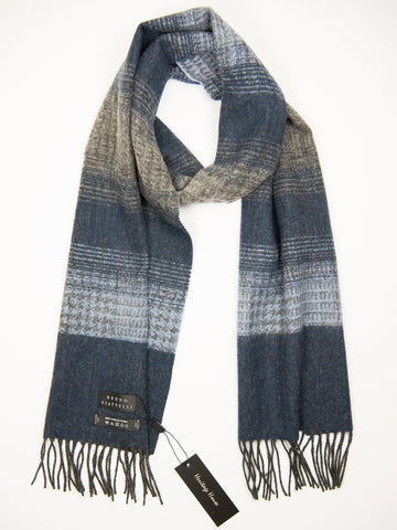 Young Men's Scarf 27503 Blue/Light Blue Young Mens Scarf Bruno Piattelli