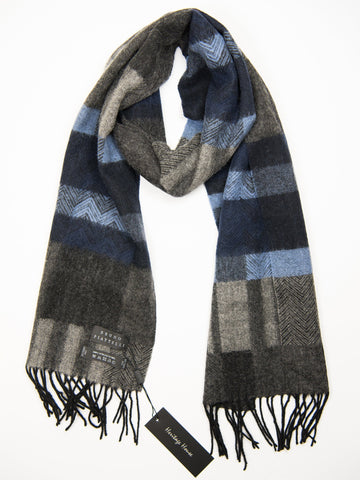 Young Men's Scarf 27505 Blue/Grey Young Mens Scarf Bruno Piattelli