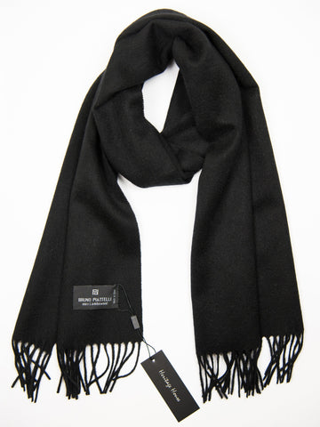 Young Men's Scarf 27506 Black Young Mens Scarf Bruno Piattelli