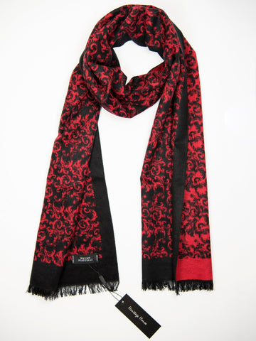 Young Men's Scarf 27507 Red/Black Young Mens Scarf Bruno Piattelli