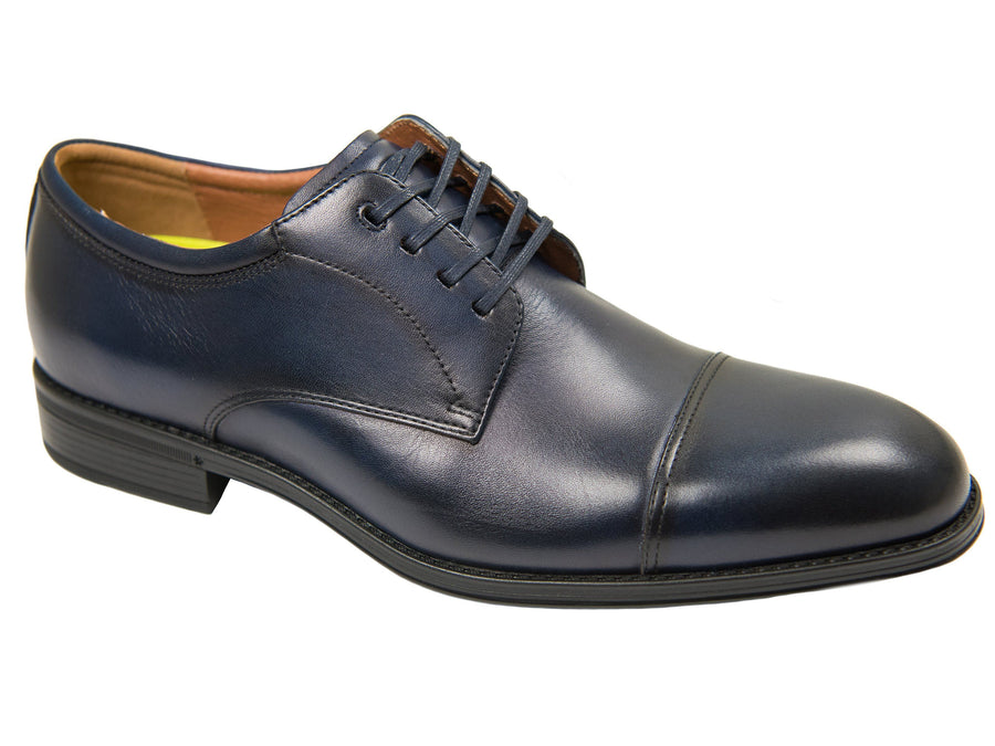 Florsheim 27612 Boy's Dress Shoe-Cap Toe Oxford -Smooth- Navy Boys Shoes Florsheim