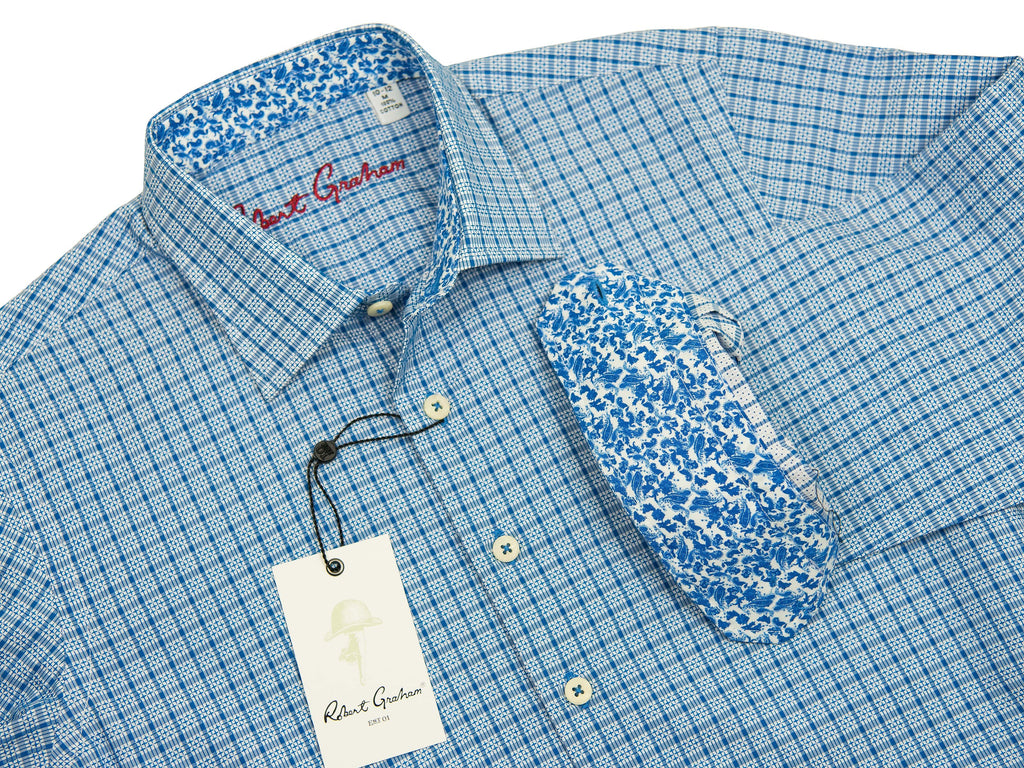 Robert Graham 27638 Boy's Sport Shirt Blue Dobby Boys L/S Woven Robert Graham