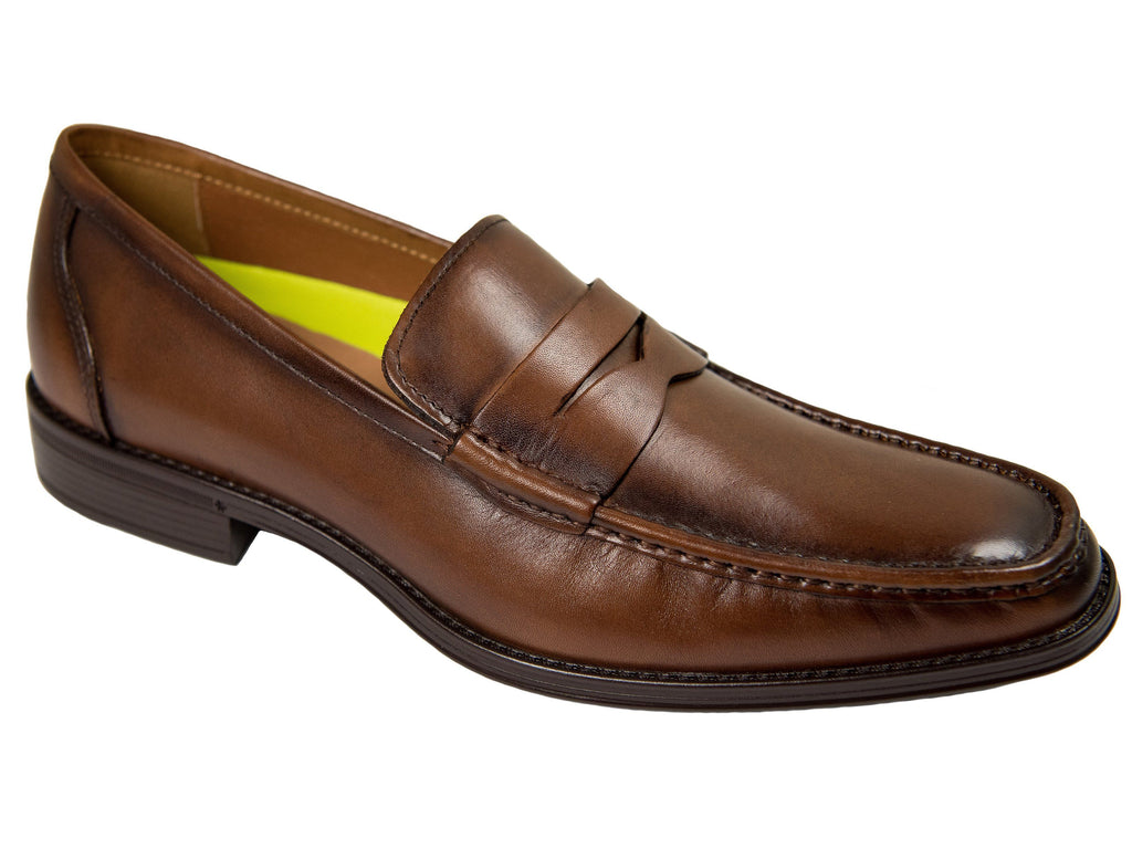Florsheim 27663 Boy's Dress Shoe-Penny Loafer-Smooth- Cognac Boys Shoes Florsheim